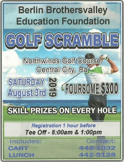 2019 golf scramble flyer