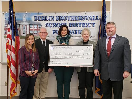 Citizens National Bank Donation to the BBSD Foundation