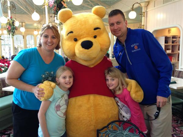 Lauer Family with Pooh Bear