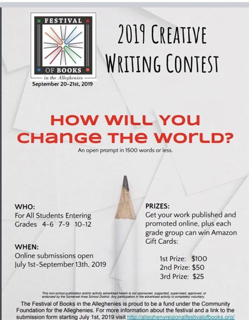 creative writing contest info