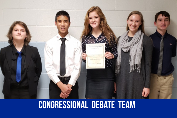 Congress Debaters got their feet wet at their first debate held at the school November 12