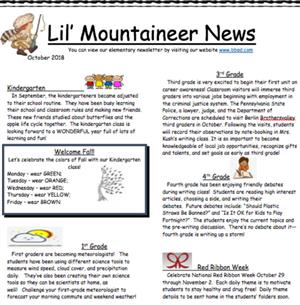 Lil' Mountaineer News - Aug/Sept 2018