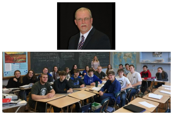 Somerset County Commissioner, Gerald Walker visited with BBHS government students