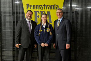 FFA Student receives Keystone Degree at the Farm Show