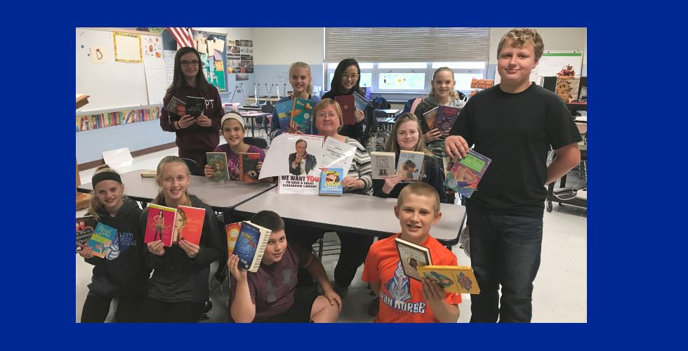 Middle School teacher wins $500 for classroom library